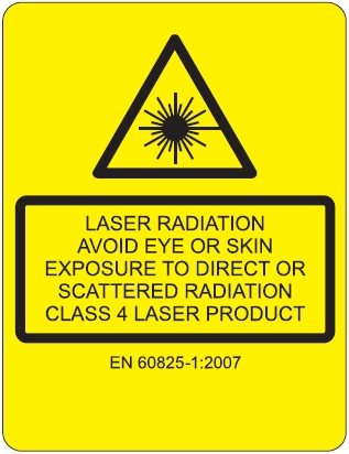 Laser safety label
