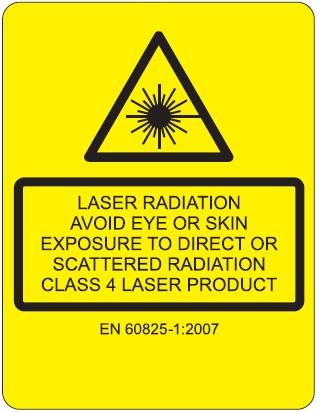 Laser safety label