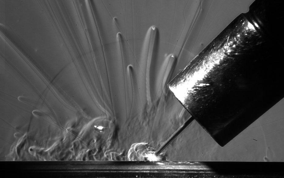 schlieren of TIG welding